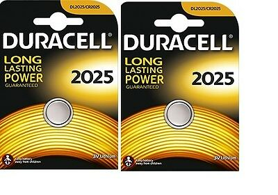 2 Piles Cr2025 / Dl2025  Duracell  3V  Lithium  Dlc 2024 2