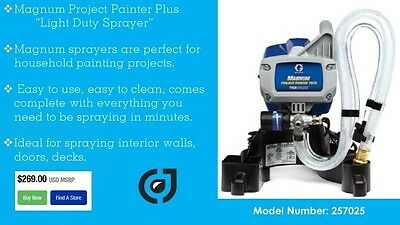Graco Magnum Project Painter Plus  w/ Graco Factory 1-year Warranty 257025 2