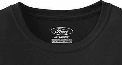 Men's Ford Mustang Black T-shirt Distressed USA Old Glory Flag MUS803USA9BLK 4