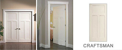 Bon 4 Of 7 Craftsman 3 Panel Primed Smooth Molded Solid Core Wood Composite Interior  Doors