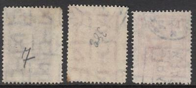 Lithuania #279-80 #282 used scarce watermark 238 letters 1933-4 cv $23.50 2
