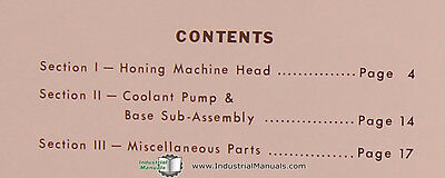 Sunnen MBB 1600, JIC & MS, Honing Machine, Repair Parts Manual 2