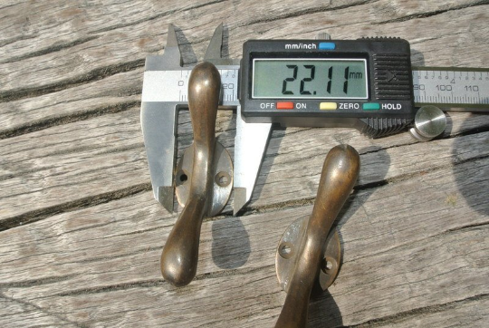 """2 small CLEATS tie down solid 3"""" 100% brass boats cars tieing rope hooks cast B 3"""