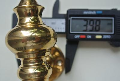 "large DOOR handle pulls solid SPUN pure brass vintage POLISHED old style 12 "" 2"