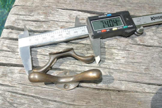 """2 small CLEATS tie down solid 3"""" 100% brass boats cars tieing rope hooks cast B 5"""