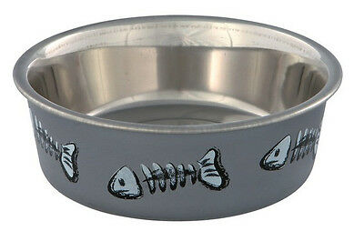 Stainless Steel patterned cat feeding / water bowl  by Trixie 3