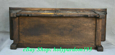 """23"""" Old Chinese Huanghuali Wood Dynasty Drawer Classical Cupboard Cabinet Desk 11"""