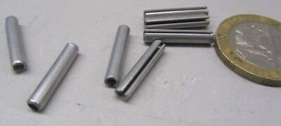 """Zinc Plate Steel, Slotted Roll Spring Pin, 1/8"""" Dia x 11/16"""" Length, 250 pcs 7"""