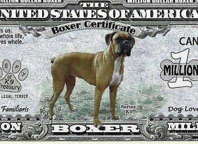 FREE SLEEVE Siberian Husky Dog Certificate Million Dollar Bill Fake Funny Money