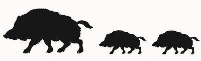 Aufkleber Wildschwein Sau Schwarzwild Furs Auto Scheibe Oder