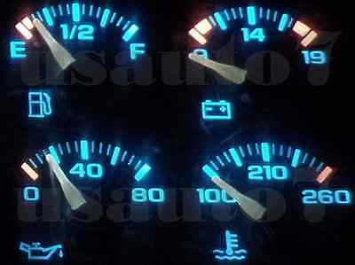 95-98 CHEVY SUBURBAN 1500 C1500 K1500 Dash Cluster Gauge AQUA BLUE LED  LIGHT KIT