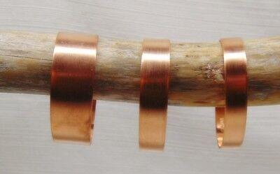 "Pure Raw COPPER CUFF Bracelet Blanks 1/4"" 3/8"" 1/2"" 3/4"" wide ~As-is / Embellish 3"