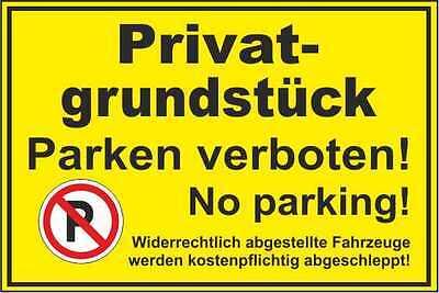verbotsschild privatgrundst ck parken verboten no parking. Black Bedroom Furniture Sets. Home Design Ideas
