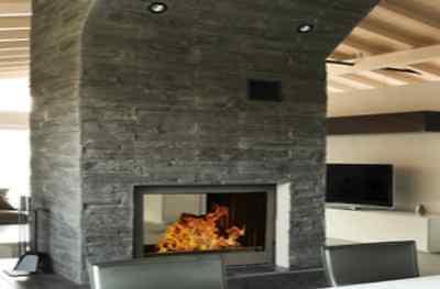 kamineinsatz tunnelkamin schwarz glasrahmen 2 t ren. Black Bedroom Furniture Sets. Home Design Ideas