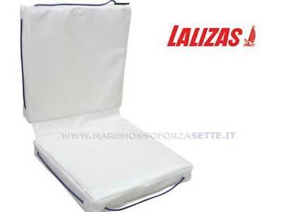 CUSCINO GALLEGGIANTE PER BARCA LALIZAS DOPPIO BIANCO cm 83x40x6,5 DECK CUSHIONS 3