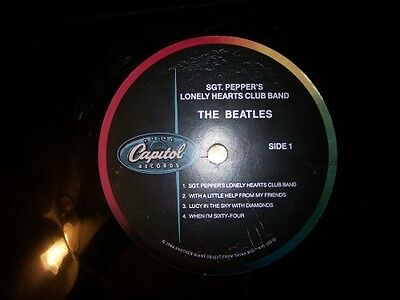 """The Beatles 1984 Sgt. Pepper's Lonely Hearts Club Band Think Big 34"""" Promo LP 3"""