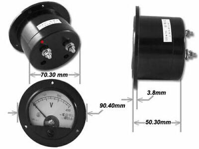 62C2 DC 0-50V Round Analog Panel Meter Volt Voltage Meter Voltmeter Gauge DC 50V 2