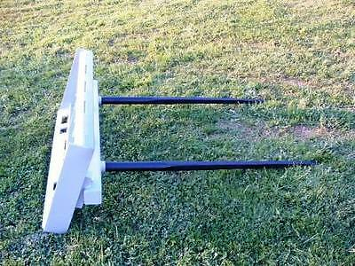 """Skid Steer DOUBLE Bale Spear Attachment 2 x 49"""" Prong Hay Bale Handler CAT-M 5"""