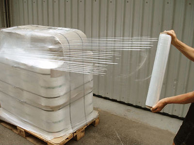 "18"" x 1500FT 100 Gauge Pallet Wrap Stretch Film Shrink Hand Wrap 1500' 4 Rolls 2"