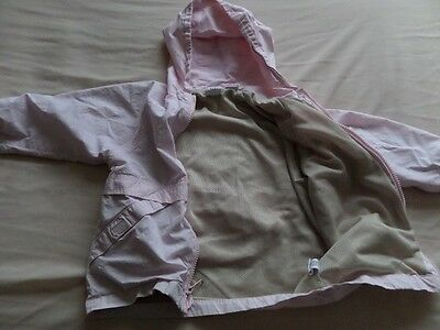 Baby Gap Girls Pale Pink Hooded Jackets Size 3 Years 3