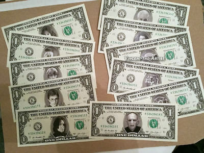 LUKE PERRY on a REAL Dollar Bill Cash Money Collectible Memorabilia Celebrity