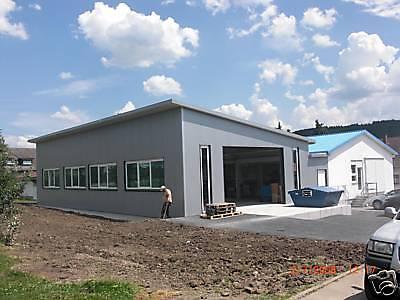 Neue Stahlhalle 16m x 25m x 4m, isoliert 4