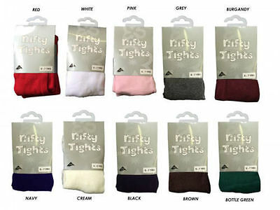 Kids Girls Children's Cotton Girls School Tights Nifty Ages 1 - 13 Years 2