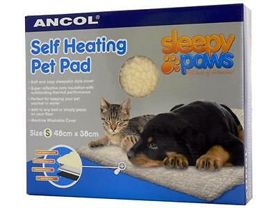Ancol Sleepy Paws Self Heating Pet Pad Dog Cat Warm Soft Sheepskin Bed Rug S M L 2