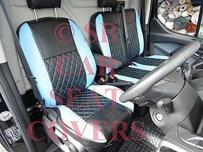 To Fit A Ford Transit Custom Van, Seat Covers, 2014, Bl / Bk Bentley Diamond 2