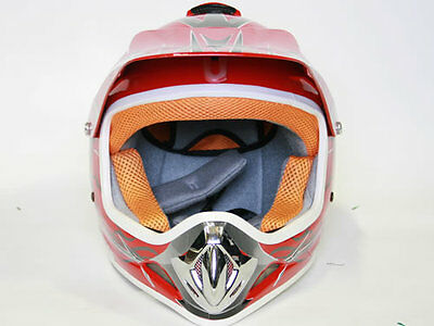 Kinder Cross Helm Kinderhelm Motorradhelm Quadhelm Crosshelm Rot