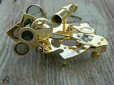 Collectible Vintage Brass Sextant Marine Working Table Top Nautical Sextant 2