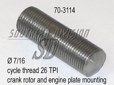 Triumph STUD E3114 70-3114 crank to rotor, engine plates to frame to 66, 26 TPI