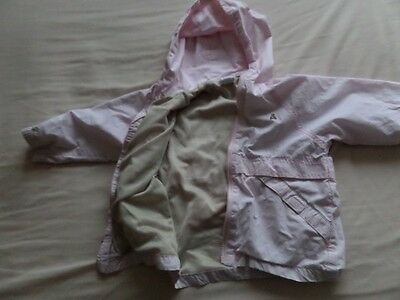 Baby Gap Girls Pale Pink Hooded Jackets Size 3 Years 2