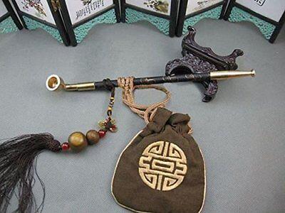 Japanese Samurai Kiseru Tobacco Smoking Pipe SET EDO Style With Drawstring Bag