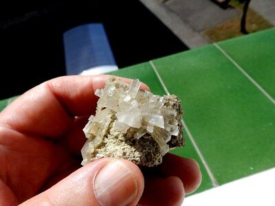 "Minerales "" Fabulosos Cristales Biterminados De Celestina De Ulea Murcia- 8B17 "" 3"