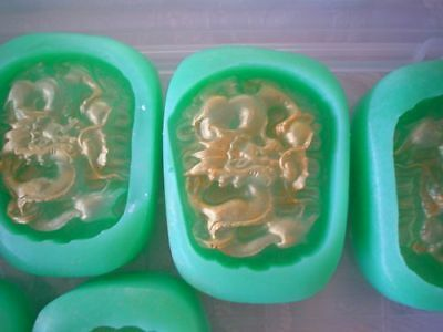 NEW Chinese DRAGON + PEARL SILICONE SOAP MOLD mould