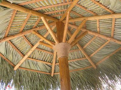 7 Round Mexican Palm Thatch Tiki Umbrella Cover Tropical Commercial Grade 3