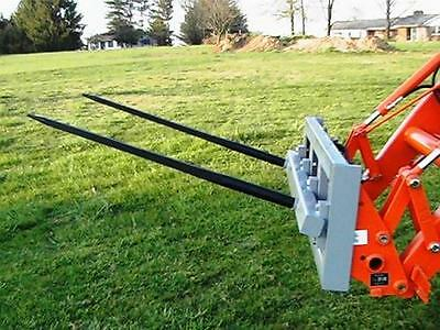 """Skid Steer DOUBLE Bale Spear Attachment 2 x 49"""" Prong Hay Bale Handler CAT-M 2"""