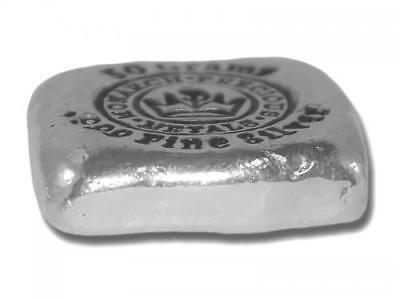 1  -  50 Gram. 999 Fine Silver Bar - Monarch - Hand Poured - Uncirculated 2
