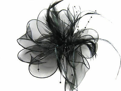 Ladies Feather Hair Wedding Fascinator Clip Races Bridal Hair Accessory Ascot 3