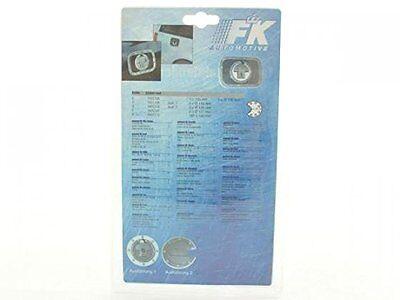 Tankdeckelblende Fuel Cap ALU Look Abdeckung * 180x131 FK-Automotive universal