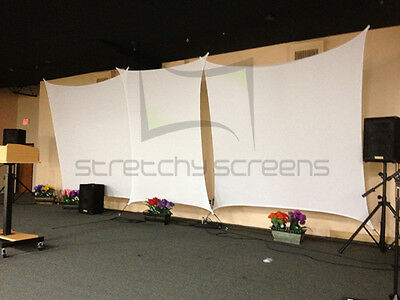 Rectangle Sm Flat Panel, Stretch Screen, Spandex Backdrop, 6' X 8'