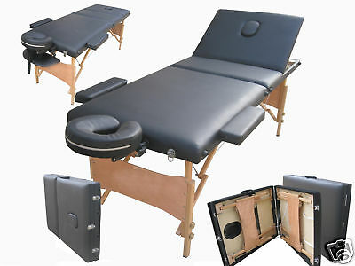 Black Massage Beauty Bed Table Couch 3 Way Adjustable Portable Folding Therapy 2
