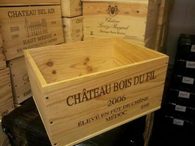 6 x GENUINE FRENCH WOODEN WINE CRATES BOXES  PLANTER HAMPER DRAWERS STORAGE..... 8