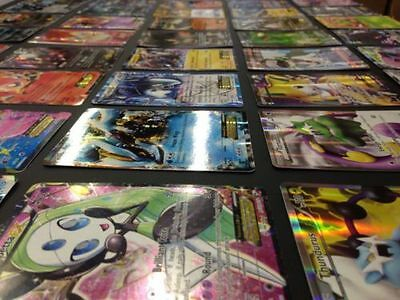 TCG 100 Card Lot Rare Common Unc Full Art GX Guaranteed EX AND Holo Rare Pokemon 5