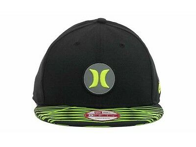 low priced 8036a 71a2a ... 1 of 5 Hurley Super Fuse Black Lime New Era 9Fifty Adjustable Snapback  Hat Cap 2
