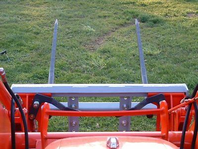"""Skid Steer DOUBLE Bale Spear Attachment 2 x 49"""" Prong Hay Bale Handler CAT-M 4"""