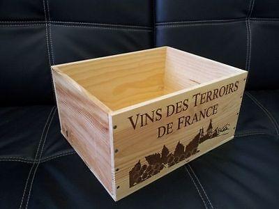 1 X Genuine French Wooden Wine Box Planter Hamper Display Storage Wedding Decor 3