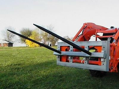 """Skid Steer DOUBLE Bale Spear Attachment 2 x 49"""" Prong Hay Bale Handler CAT-M 3"""