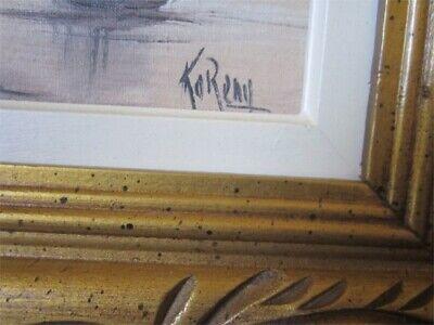 Oil on Canvas by Canadian Artist J.C. Koreny  in Fancy Golden Wood Frame 2